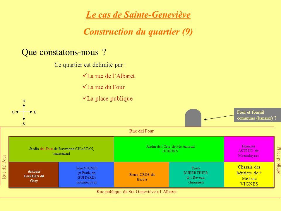Le cas de Sainte-Geneviève Construction du quartier (9)