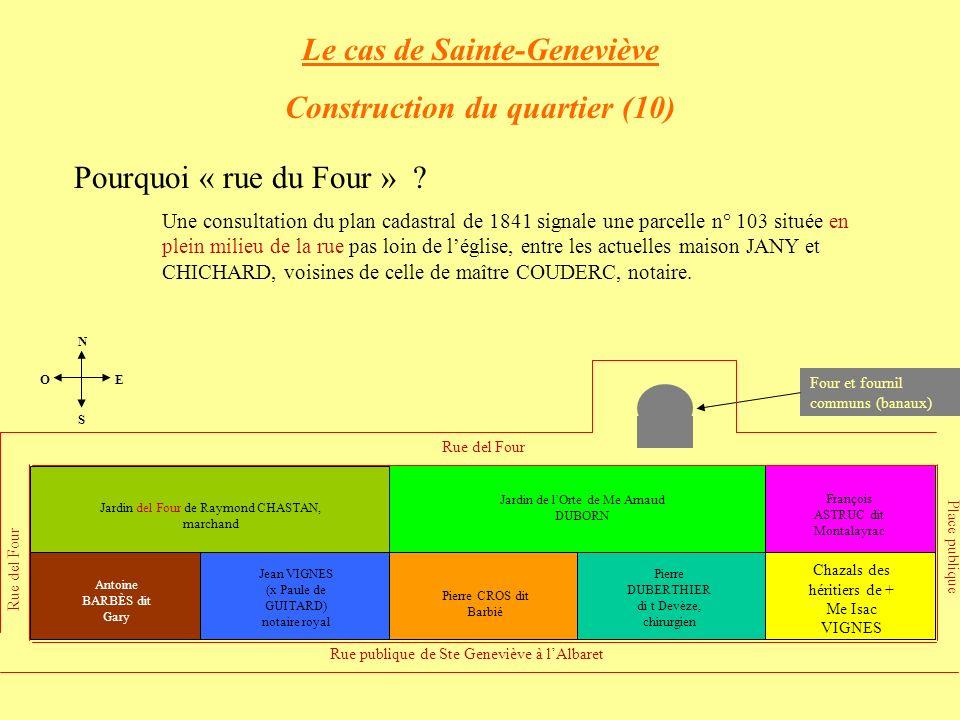 Le cas de Sainte-Geneviève Construction du quartier (10)