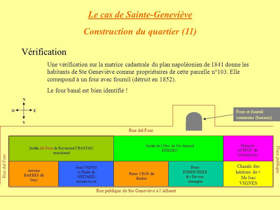 Le cas de Sainte-Geneviève Construction du quartier (11)