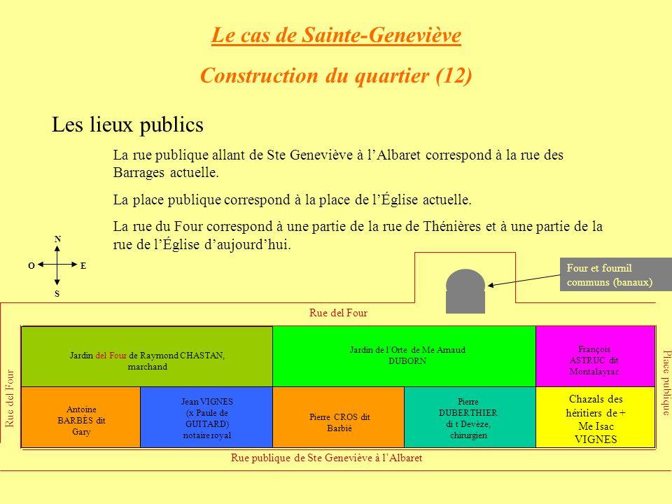 Le cas de Sainte-Geneviève Construction du quartier (12)