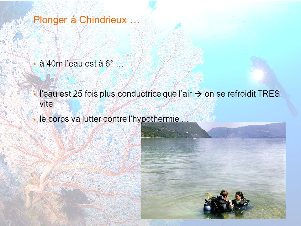 Plonger à Chindrieux … à 40m l'eau est à 6° …