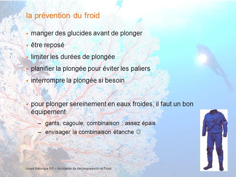 la prévention du froid manger des glucides avant de plonger
