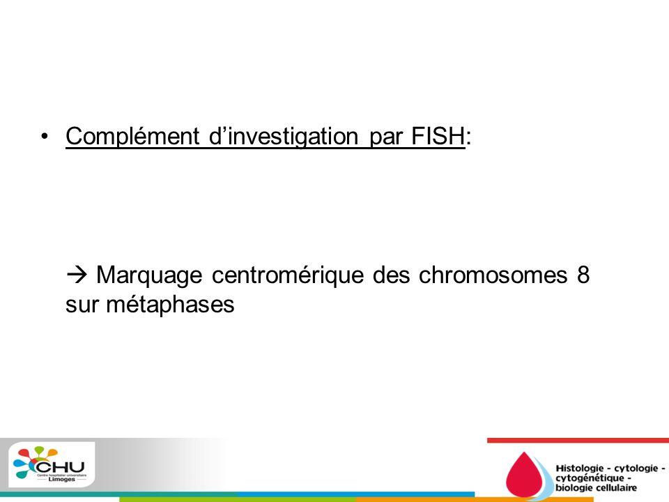 Complément d'investigation par FISH: