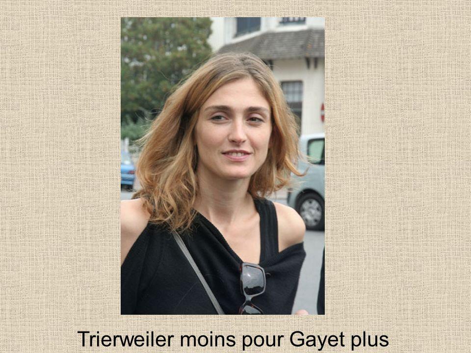 Trierweiler moins pour Gayet plus