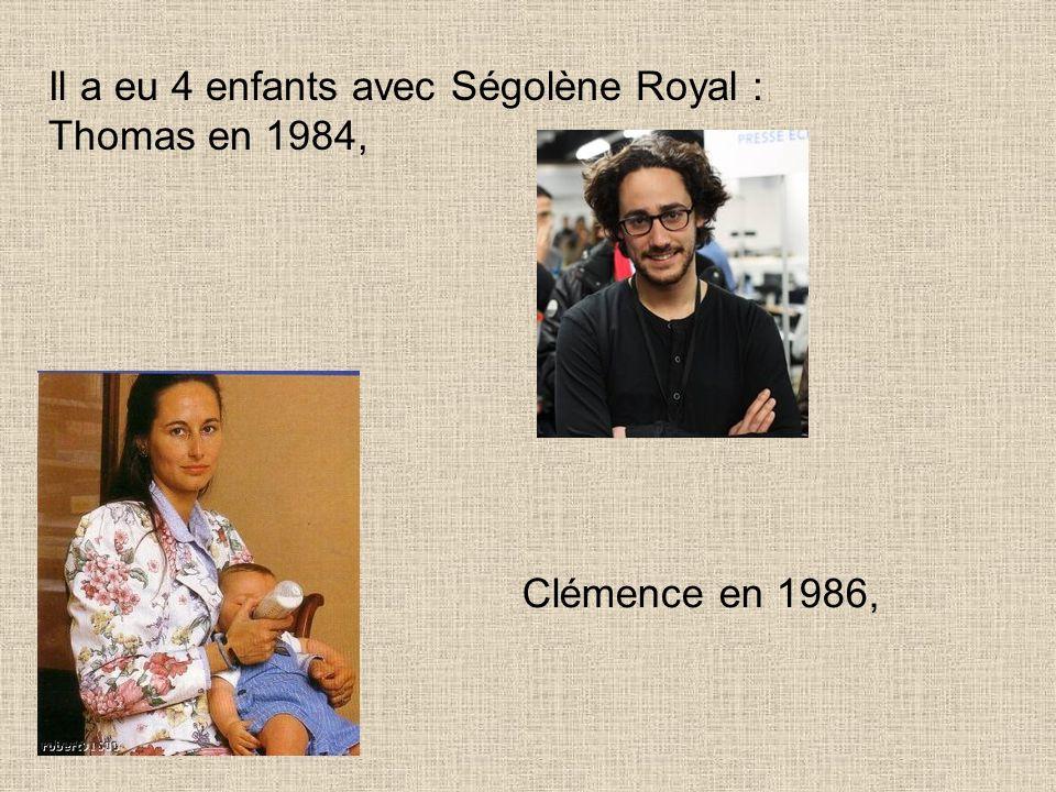Il a eu 4 enfants avec Ségolène Royal :