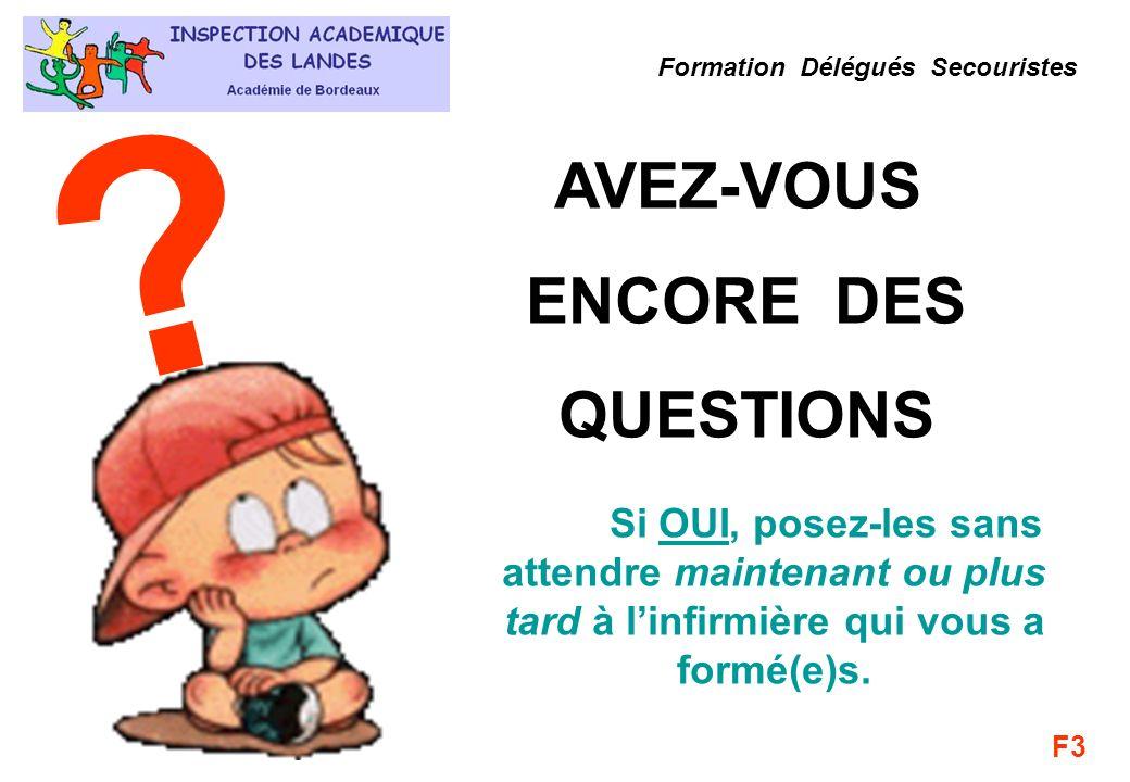 AVEZ-VOUS ENCORE DES QUESTIONS