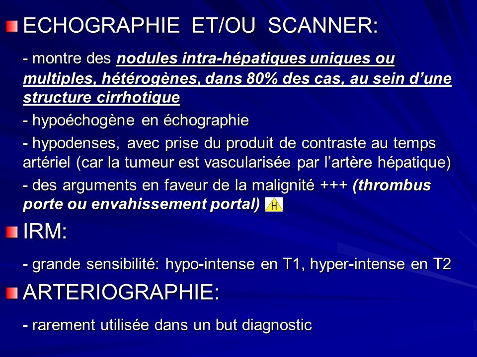 ECHOGRAPHIE ET/OU SCANNER: