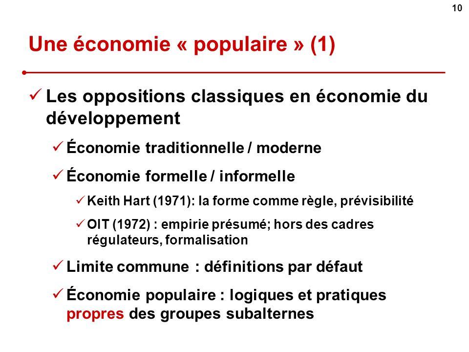Une économie « populaire » (1)