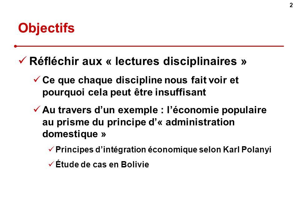 Objectifs Réfléchir aux « lectures disciplinaires »