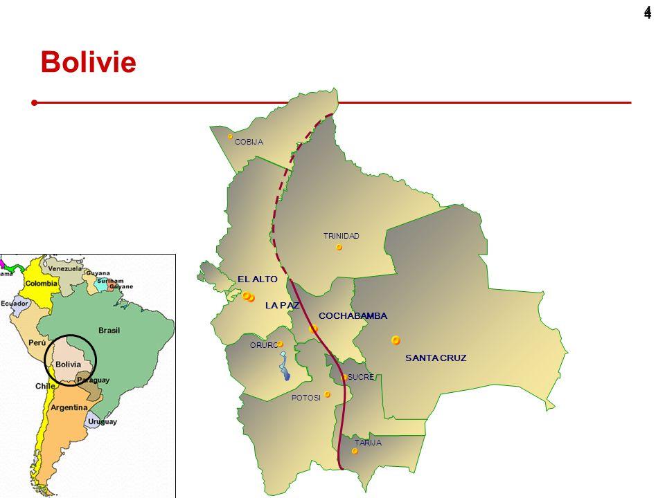 Bolivie 4 EL ALTO Contraintes démographiques (emploi, urbanisation)