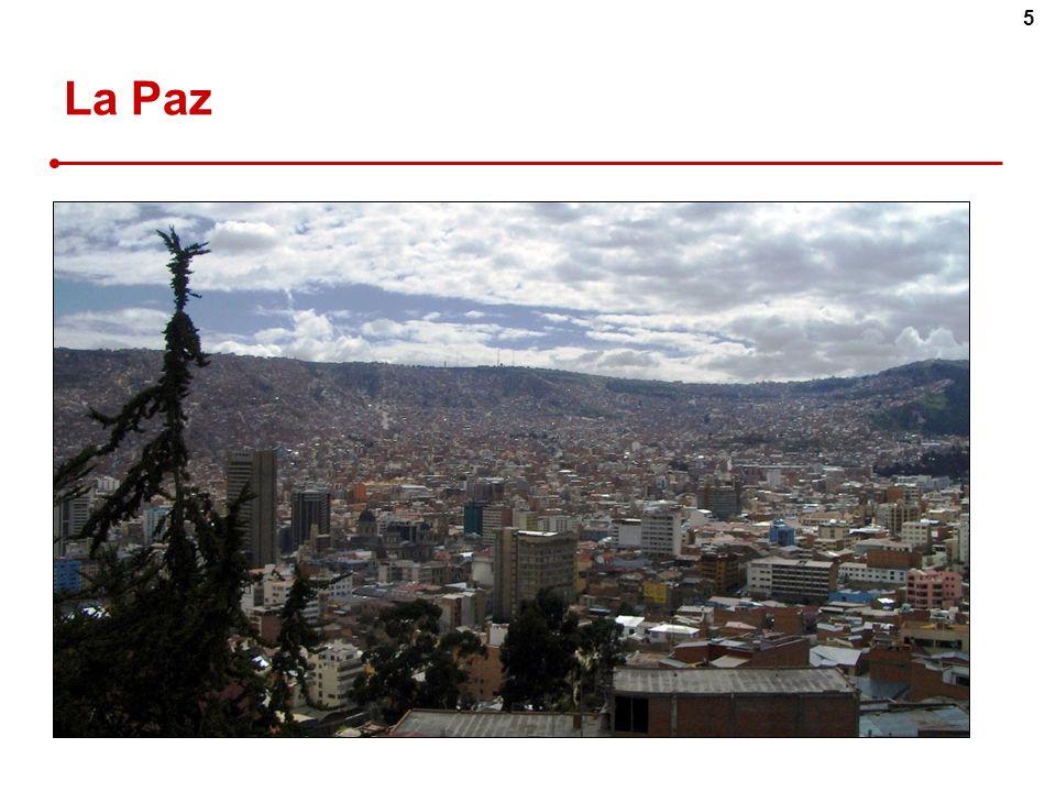 La Paz Siège de l'exécutif / laderas et une ville qui va déborder…