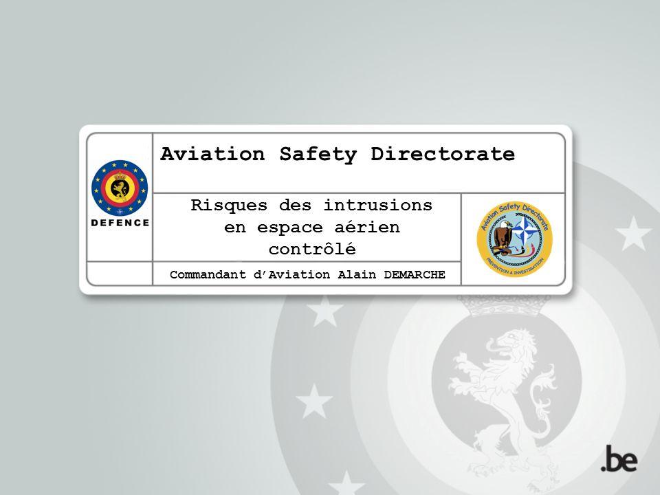 Risques des intrusions en espace aérien contrôlé