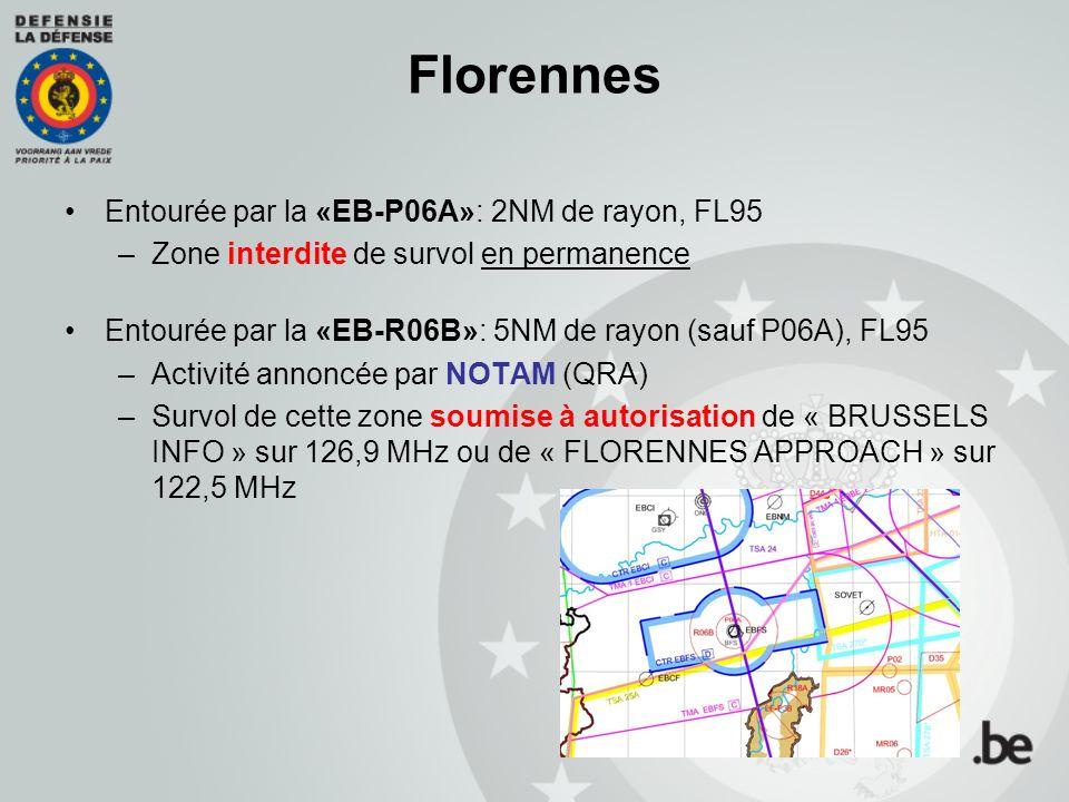 Florennes Entourée par la «EB-P06A»: 2NM de rayon, FL95