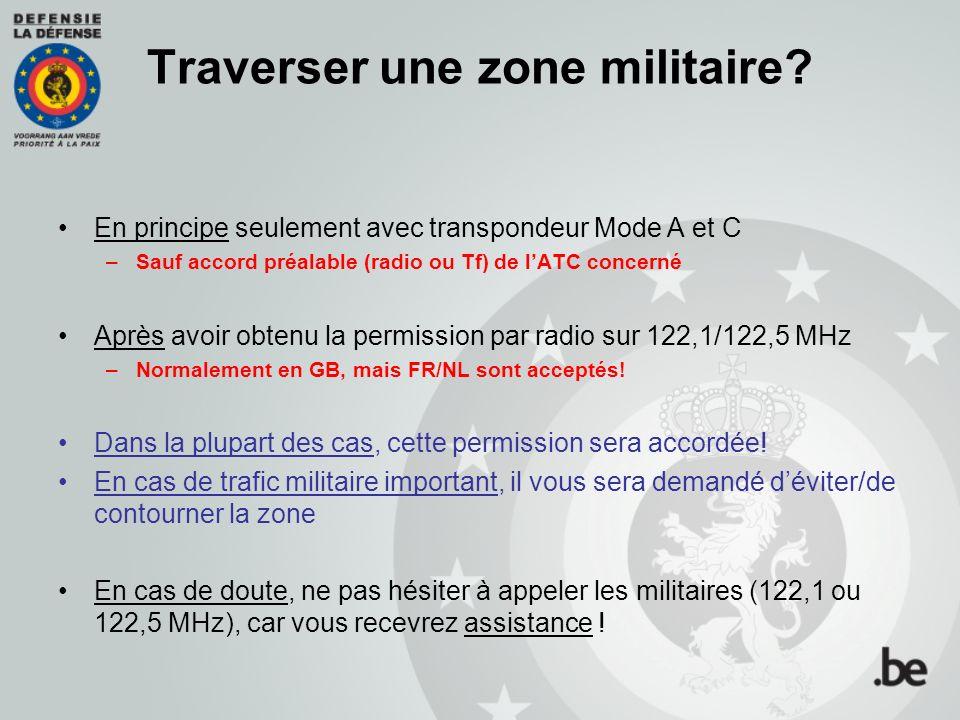 Traverser une zone militaire