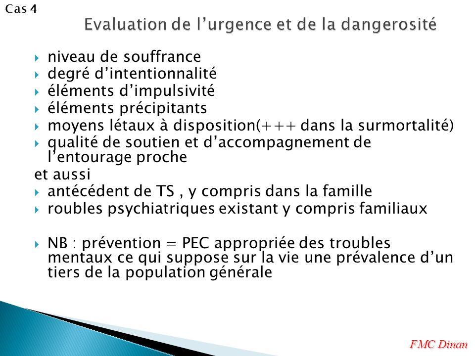 Evaluation de l'urgence et de la dangerosité