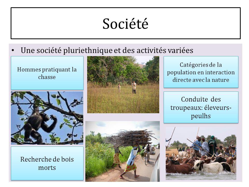 Société Une société pluriethnique et des activités variées