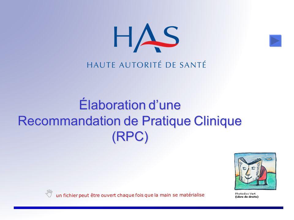 Recommandation de Pratique Clinique