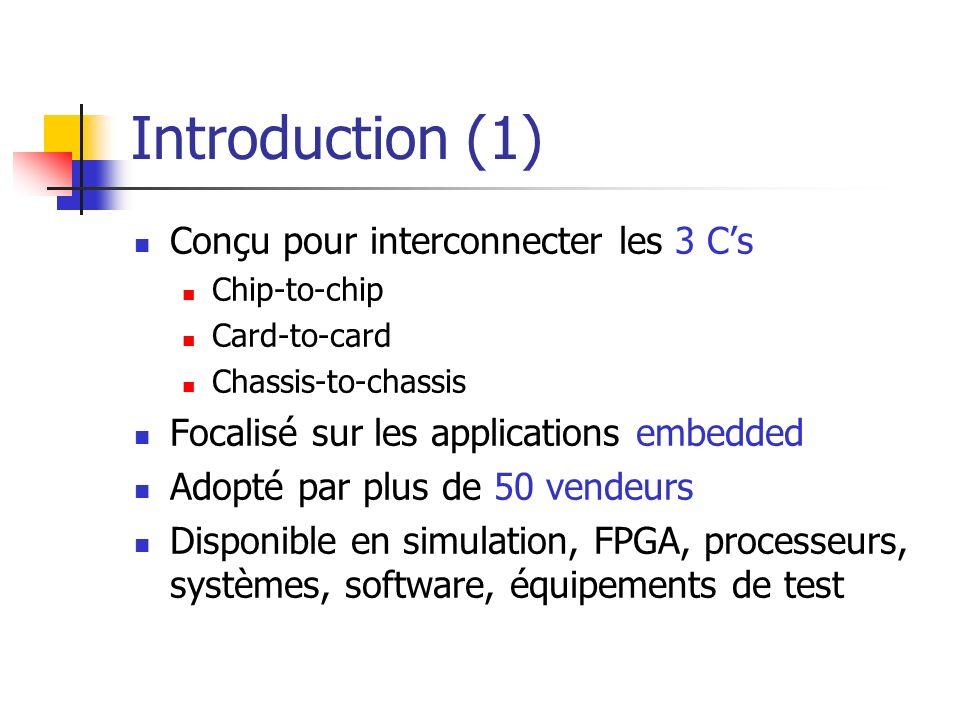 Introduction (1) Conçu pour interconnecter les 3 C's