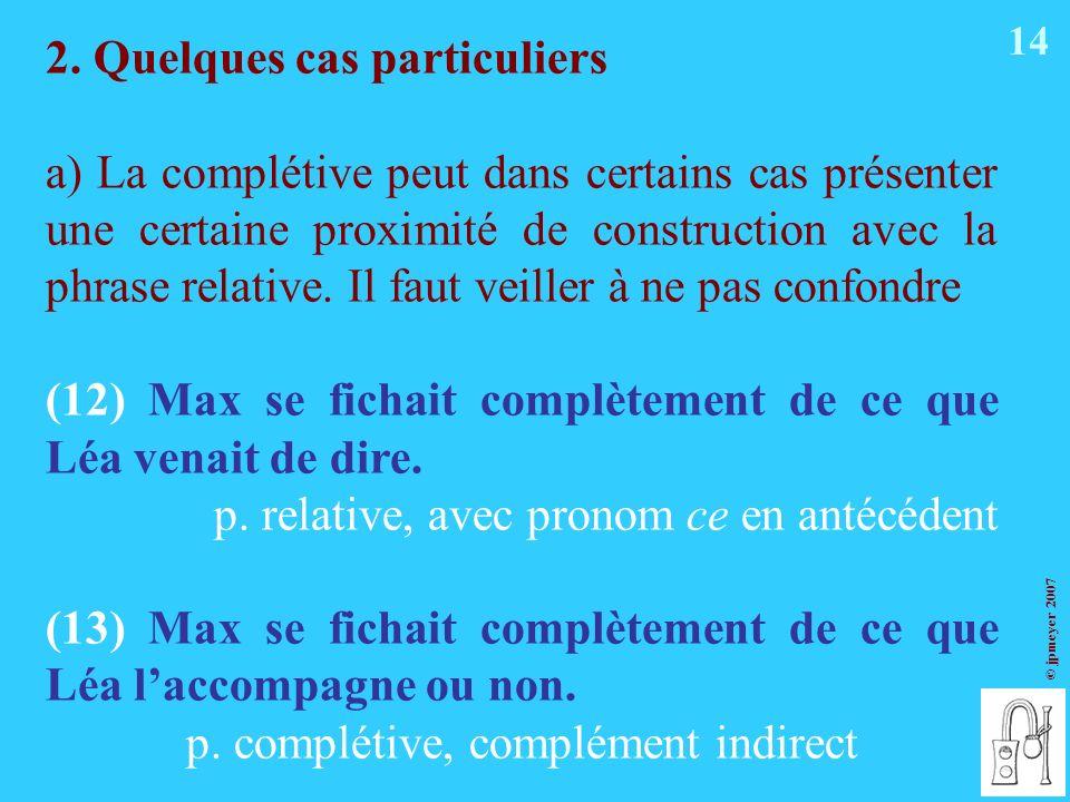 p. complétive, complément indirect