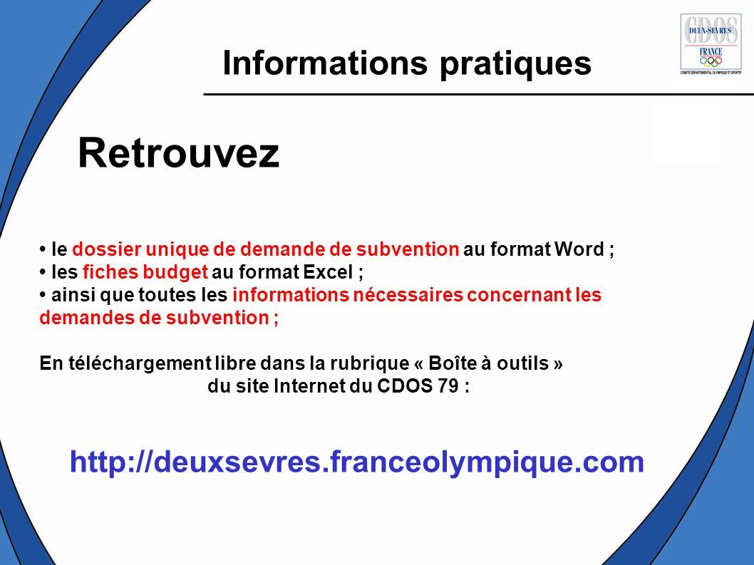 Retrouvez Informations pratiques http://deuxsevres.franceolympique.com