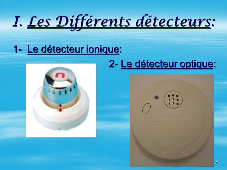 I. Les Différents détecteurs: