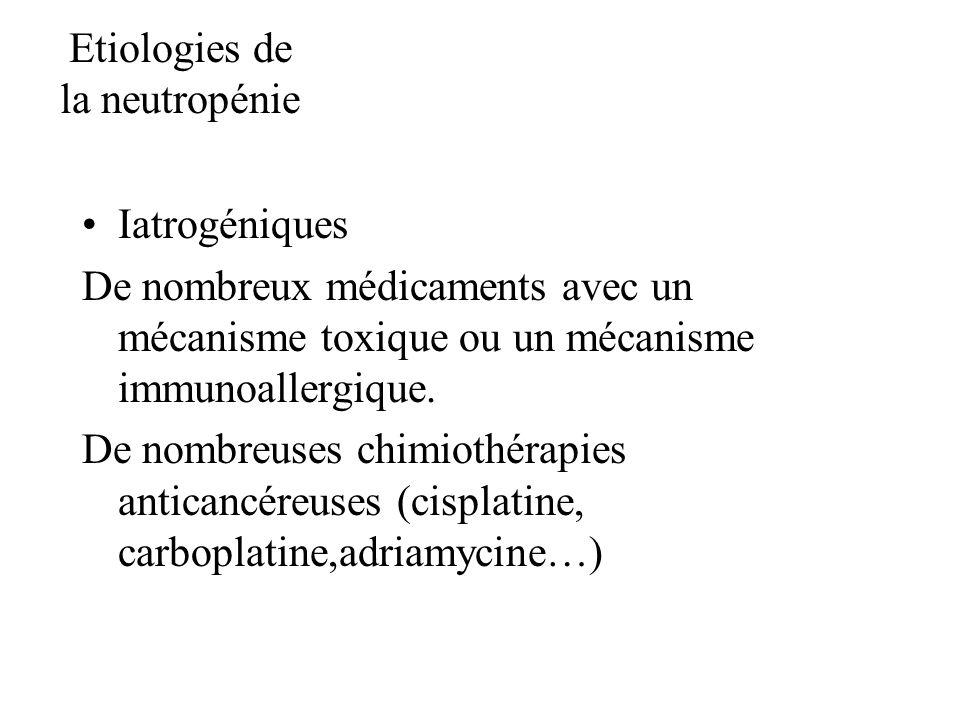 Etiologies de la neutropénie