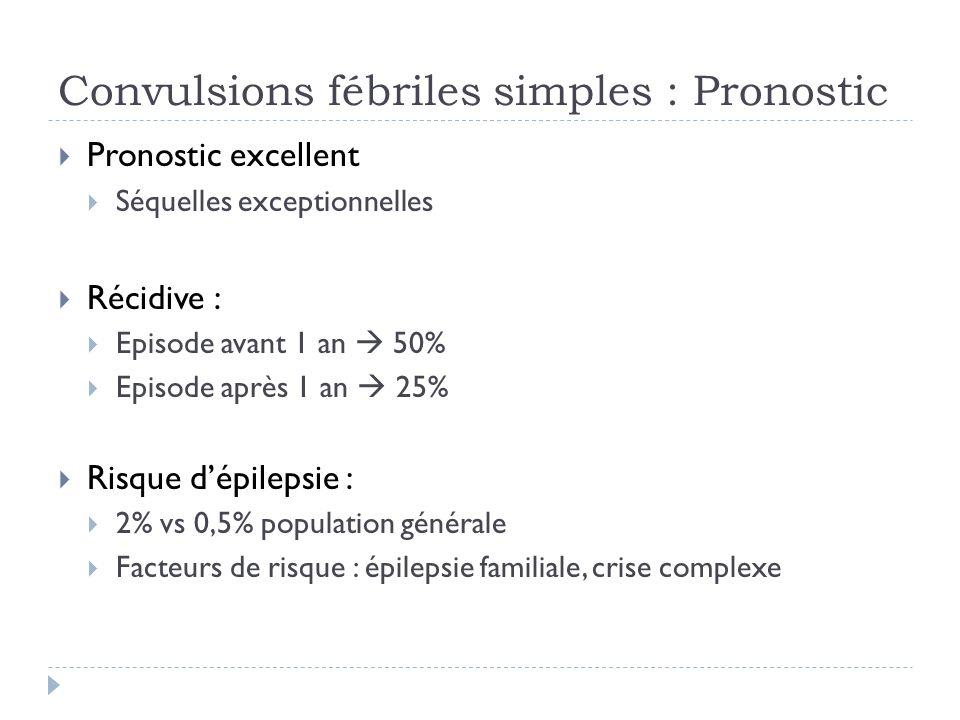 Convulsions fébriles simples : Pronostic