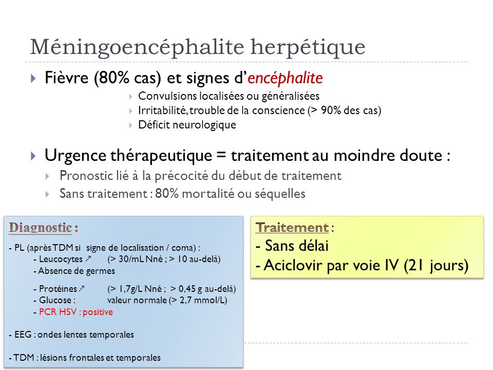 Méningoencéphalite herpétique