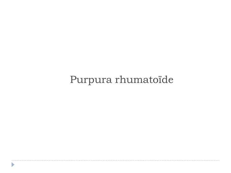 Purpura rhumatoïde