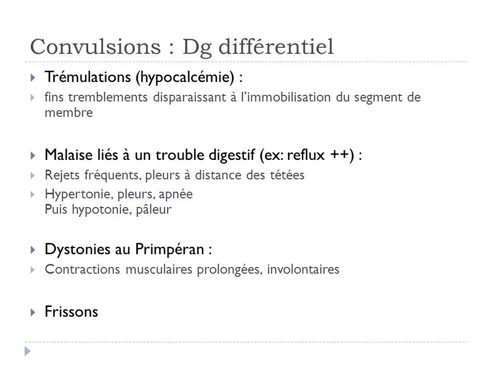 Convulsions : Dg différentiel