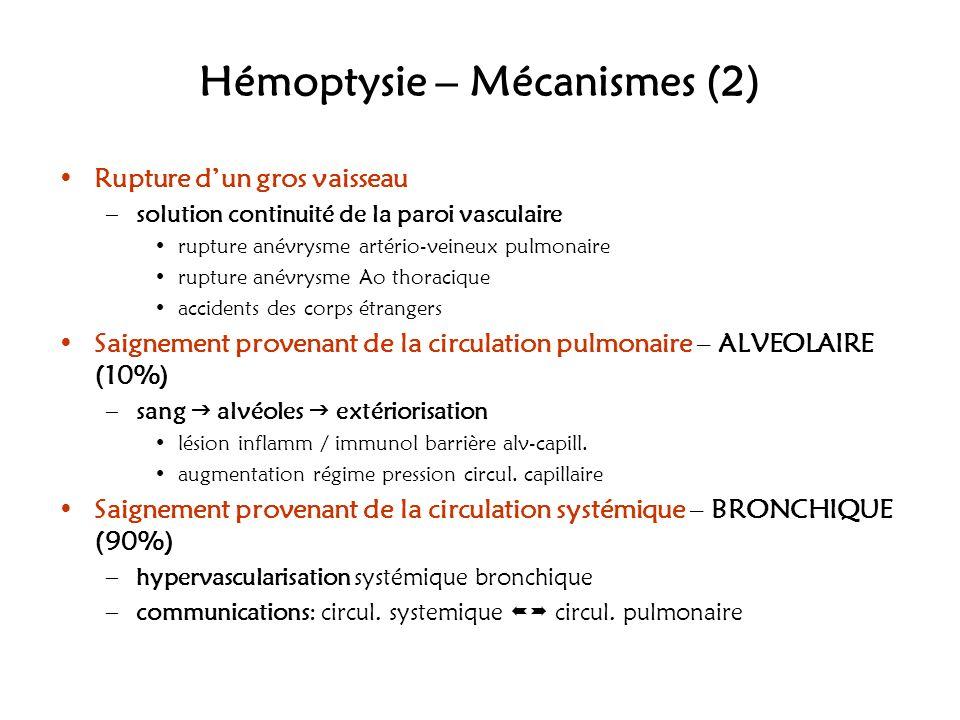 Hémoptysie – Mécanismes (2)