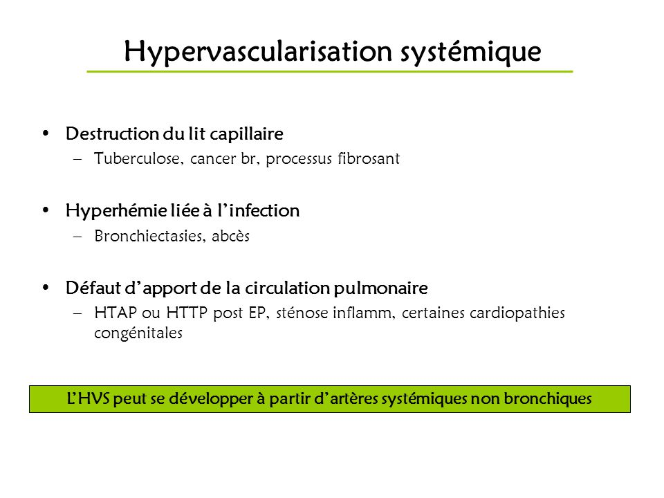 Hypervascularisation systémique