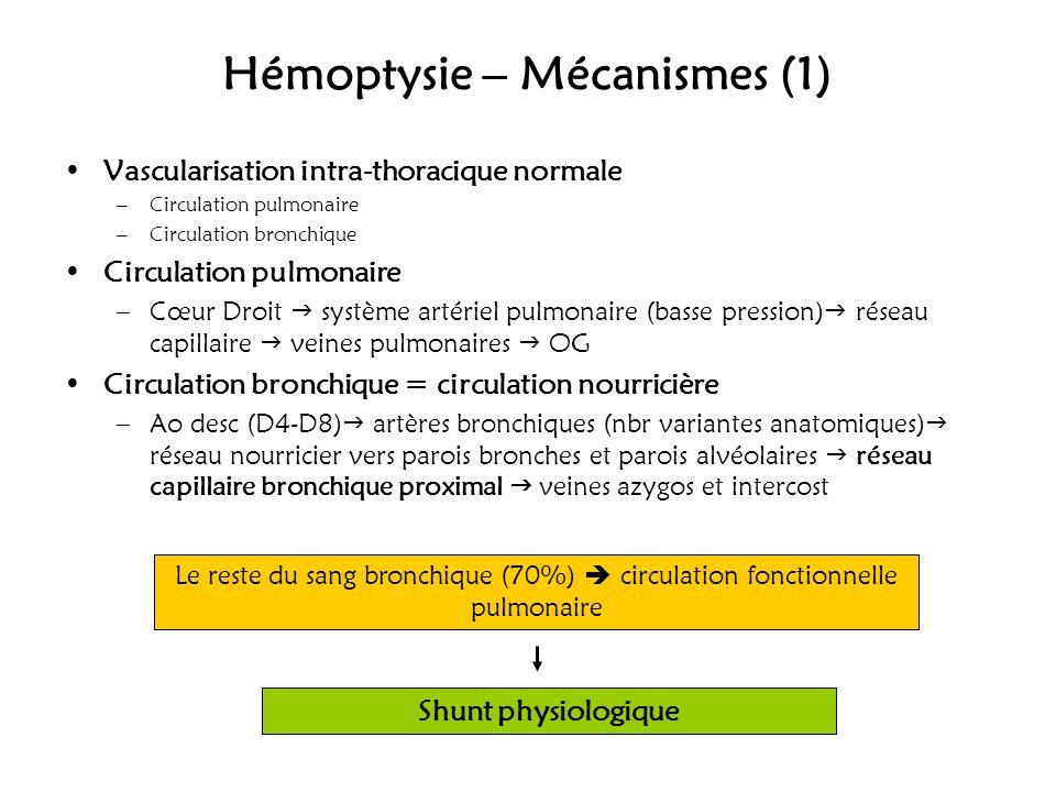 Hémoptysie – Mécanismes (1)