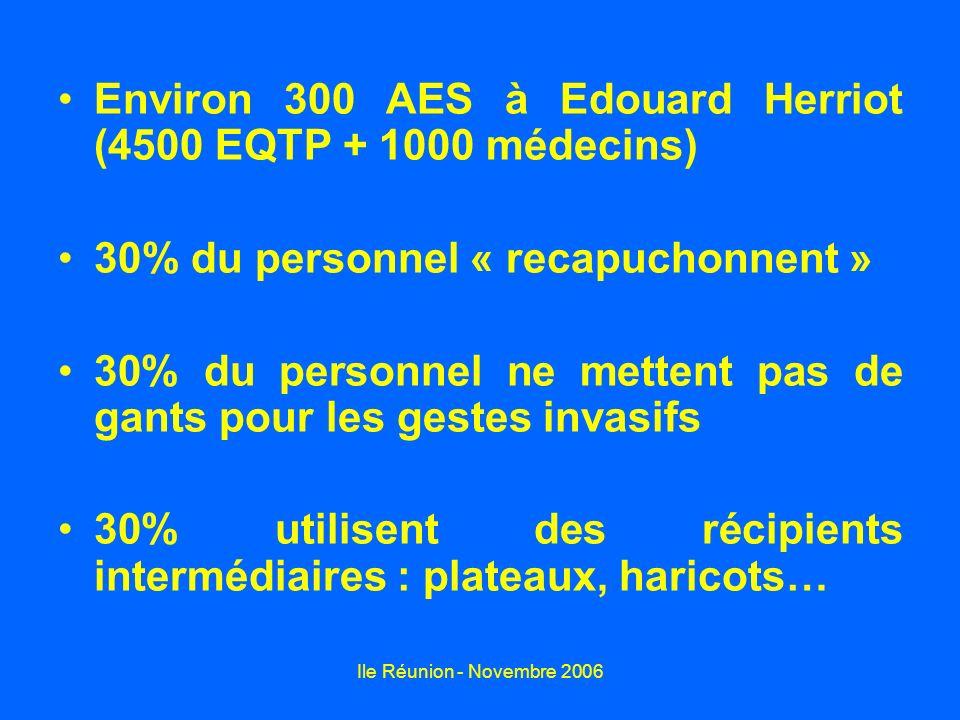 Environ 300 AES à Edouard Herriot (4500 EQTP + 1000 médecins)