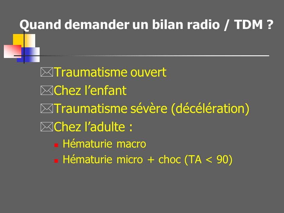 Quand demander un bilan radio / TDM