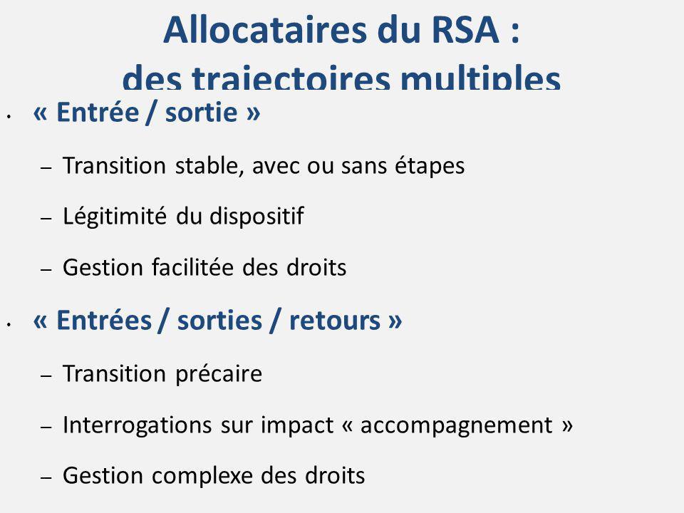 Allocataires du RSA : des trajectoires multiples