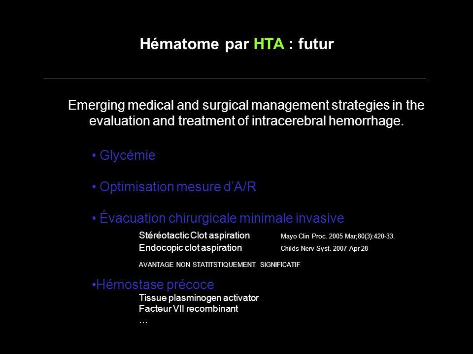 Hématome par HTA : futur