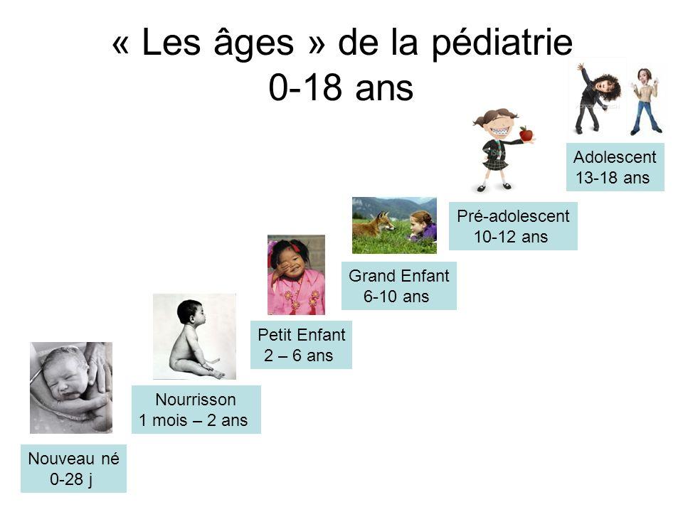 « Les âges » de la pédiatrie 0-18 ans