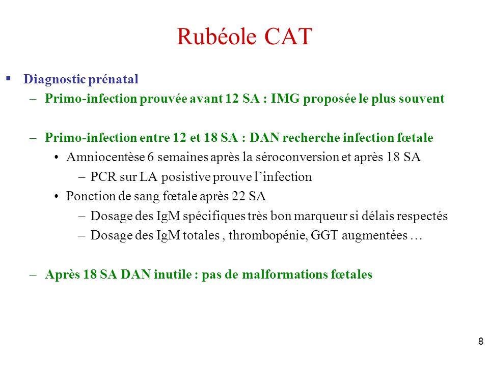 Rubéole CAT Diagnostic prénatal