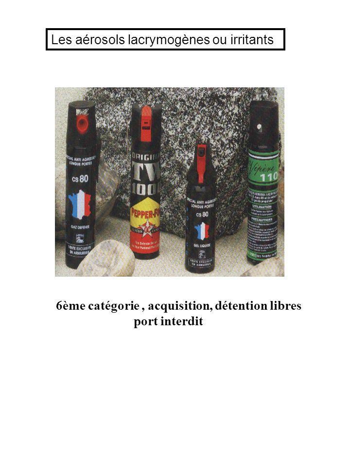 Les aérosols lacrymogènes ou irritants