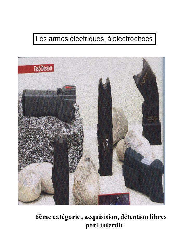Les armes électriques, à électrochocs