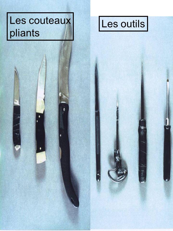 Les couteaux pliants Les outils
