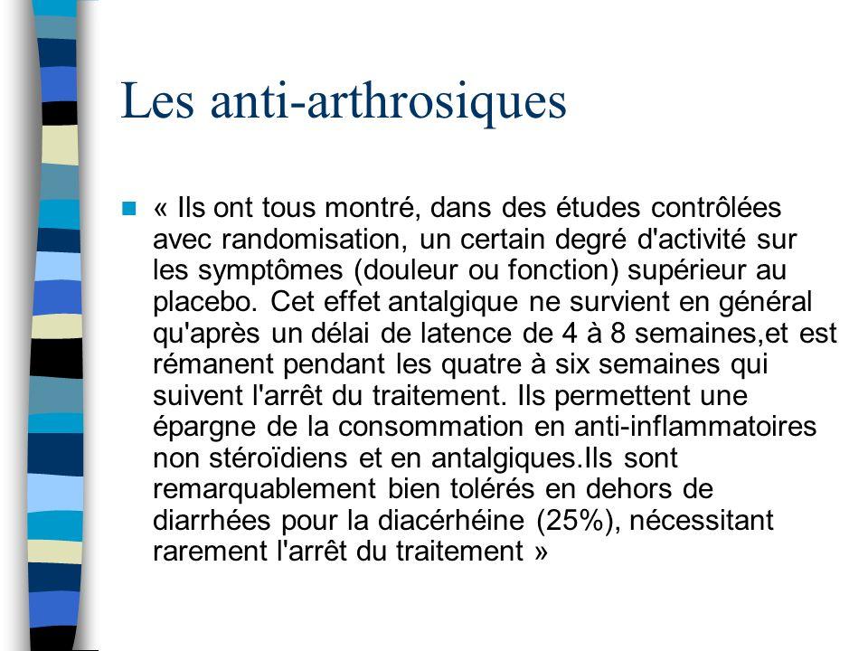 Les anti-arthrosiques