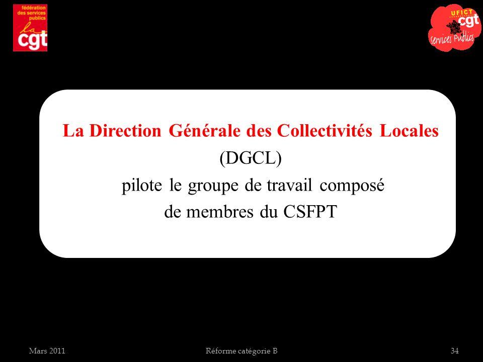 La Direction Générale des Collectivités Locales