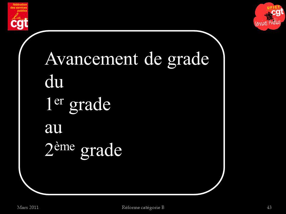 Avancement de grade du 1er grade au 2ème grade Mars 2011