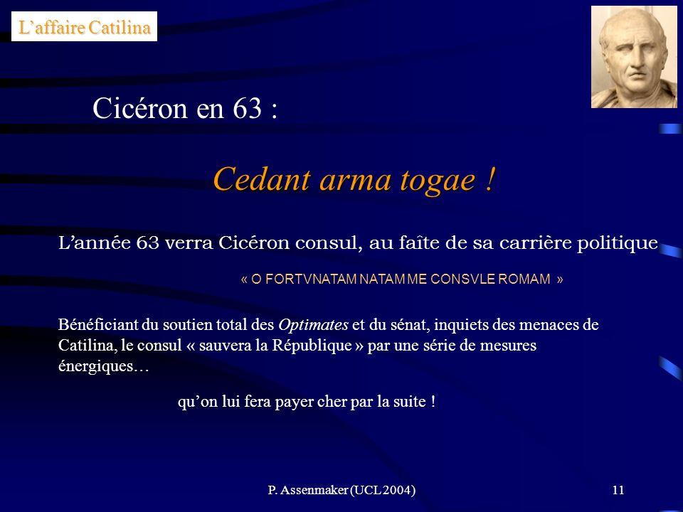 Cedant arma togae ! Cicéron en 63 : L'affaire Catilina