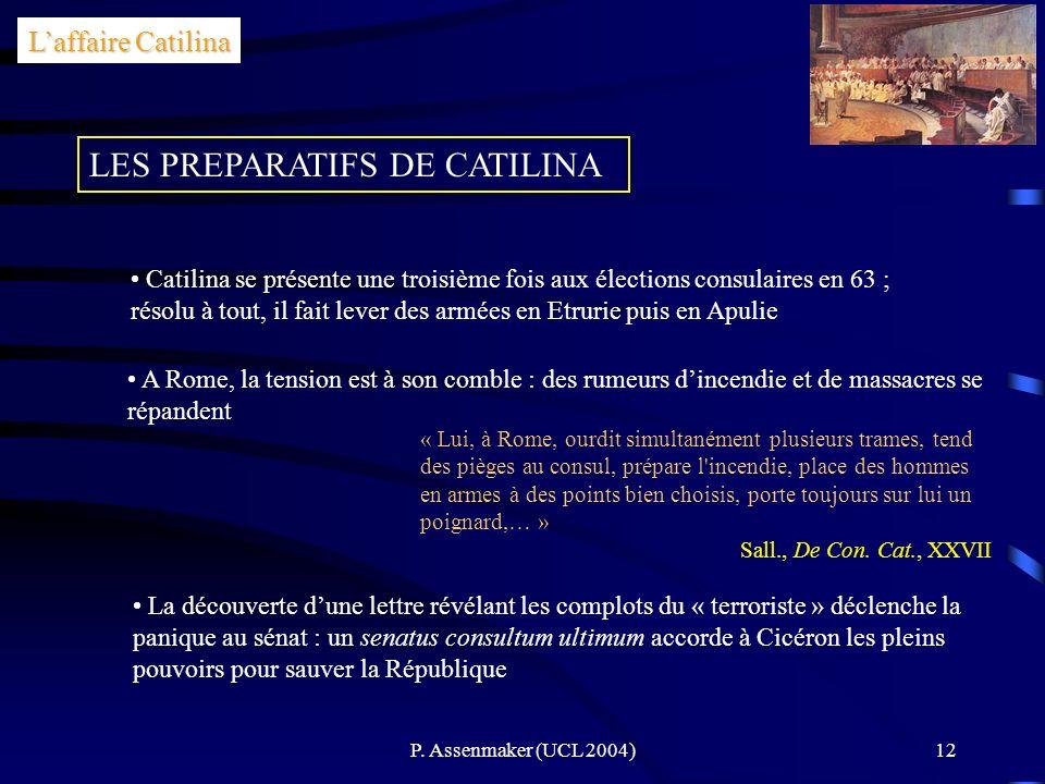 LES PREPARATIFS DE CATILINA