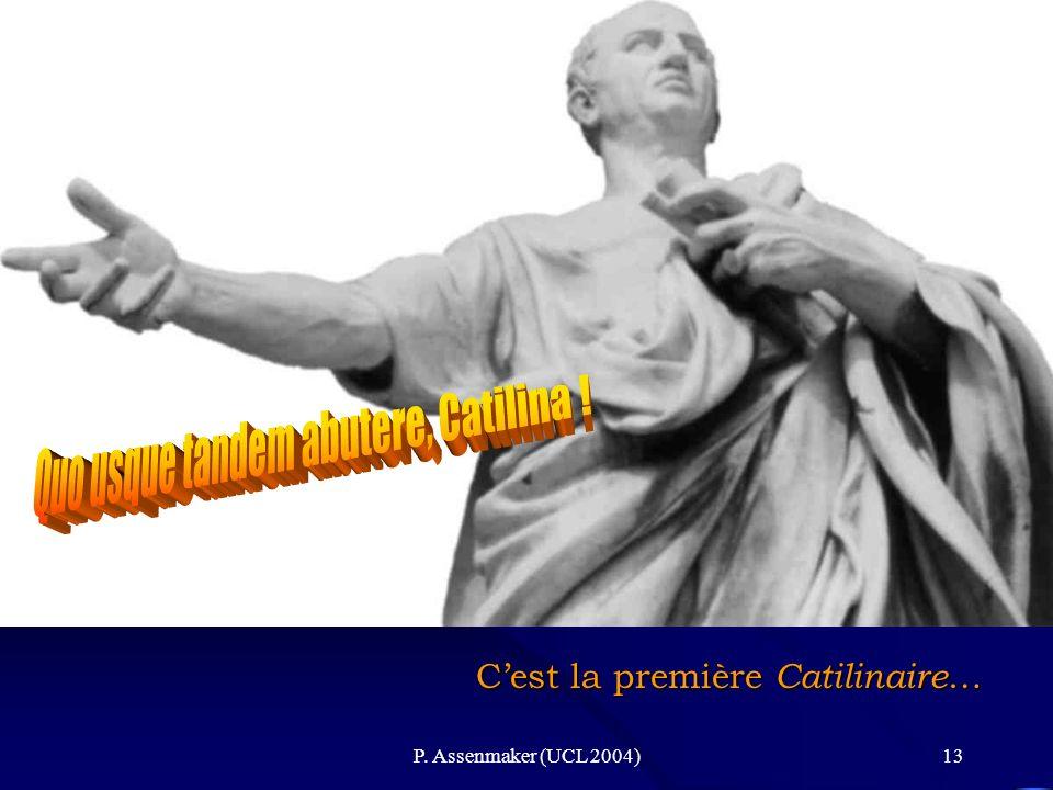Quo usque tandem abutere, Catilina !