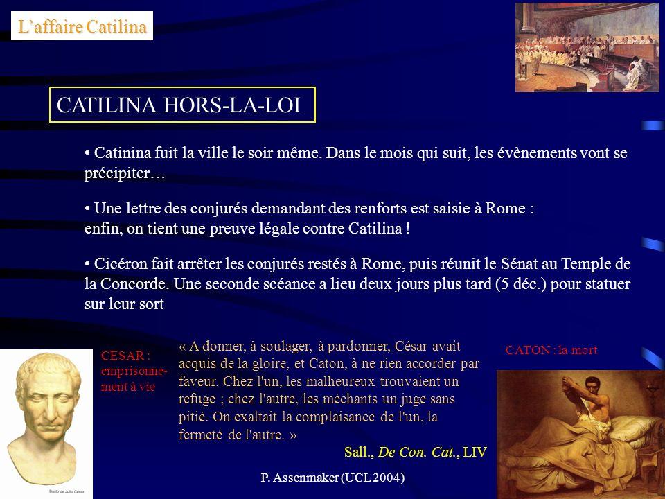 CATILINA HORS-LA-LOI L'affaire Catilina