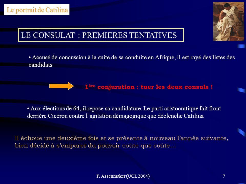 LE CONSULAT : PREMIERES TENTATIVES